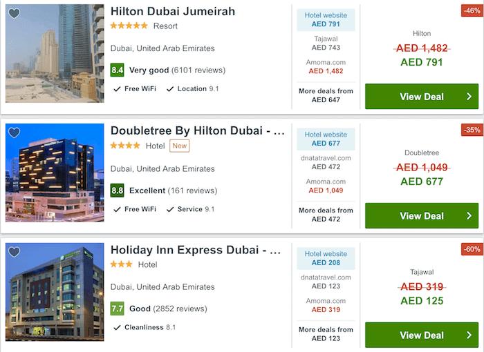 Trivago UAE Hotel Deals